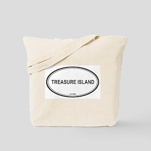 Treasure Island oval Tote Bag