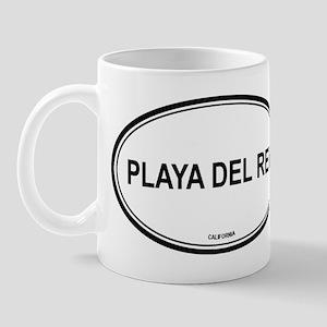 Playa Del Rey oval Mug