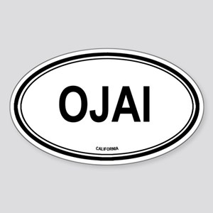 Ojai oval Oval Sticker