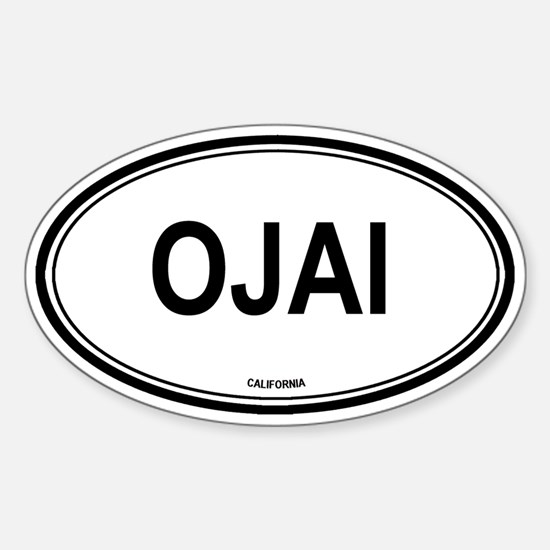 Ojai oval Oval Decal