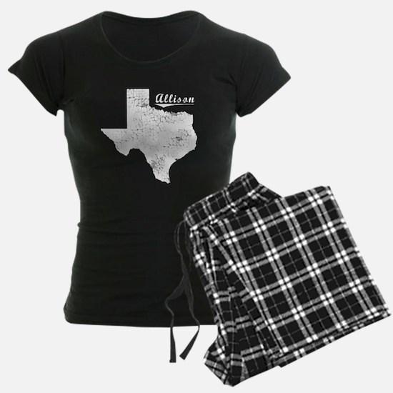 Allison, Texas. Vintage Pajamas