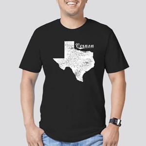 Vernon, Texas. Vintage Men's Fitted T-Shirt (dark)