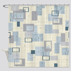 Makanahele Mid Century Modern Shower Curtain