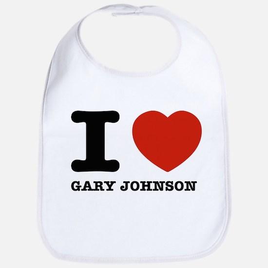 I heart Gary Johnson Bib