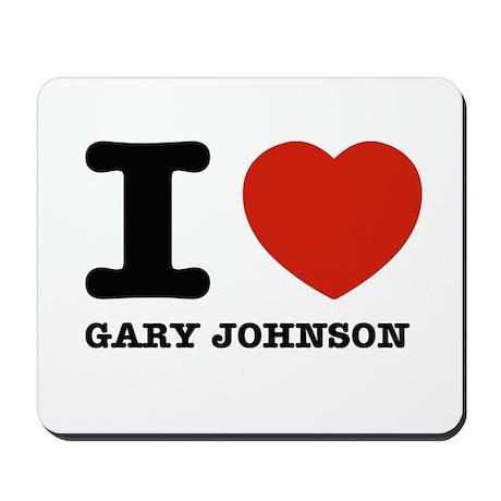 I heart Gary Johnson Mousepad