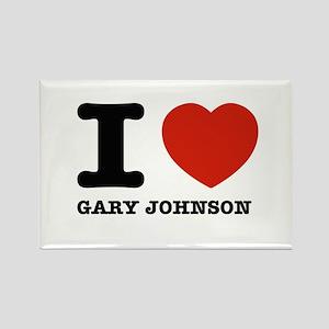 I heart Gary Johnson Rectangle Magnet