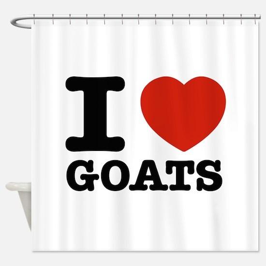 I heart Goats Shower Curtain