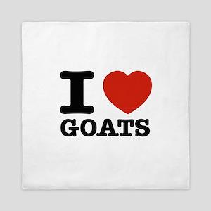 I heart Goats Queen Duvet