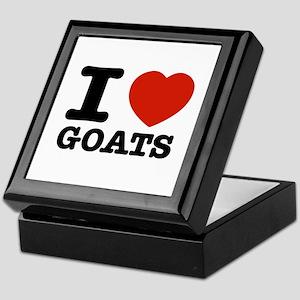 I heart Goats Keepsake Box