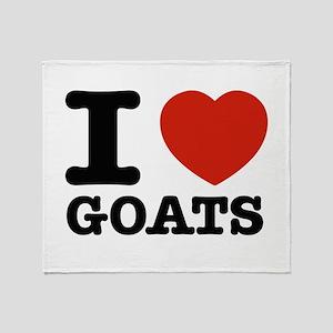 I heart Goats Throw Blanket