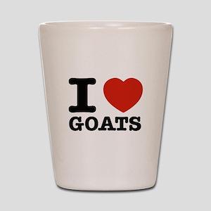 I heart Goats Shot Glass