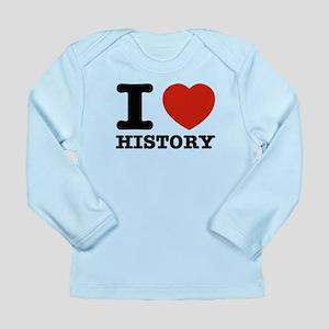 I heart History Long Sleeve Infant T-Shirt