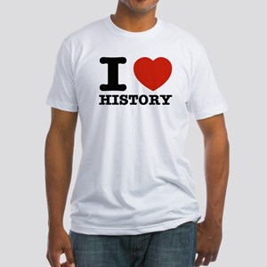 I heart History Fitted T-Shirt