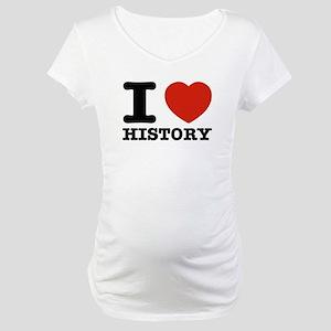 I heart History Maternity T-Shirt