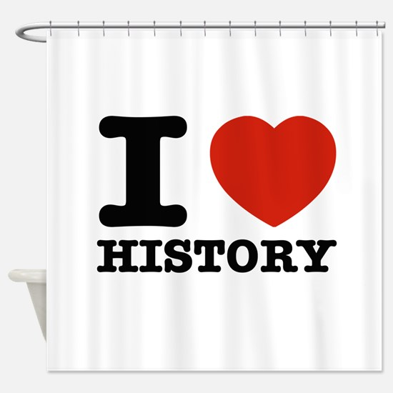 I heart History Shower Curtain