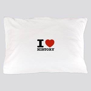 I heart History Pillow Case