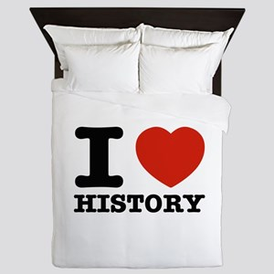 I heart History Queen Duvet