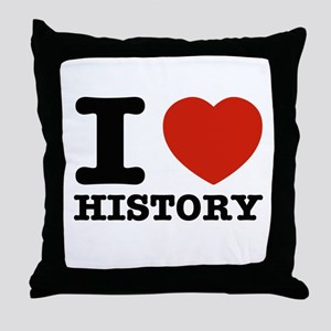 I heart History Throw Pillow