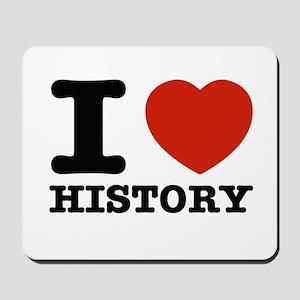I heart History Mousepad