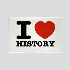 I heart History Rectangle Magnet