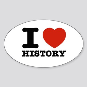 I heart History Sticker (Oval)