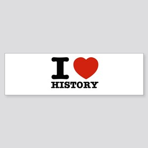 I heart History Sticker (Bumper)