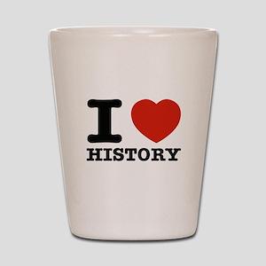I heart History Shot Glass