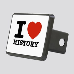 I heart History Rectangular Hitch Cover