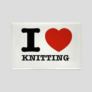 I heart Knitting Rectangle Magnet