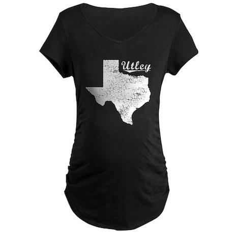 Utley, Texas. Vintage Maternity Dark T-Shirt