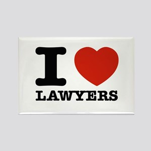 I heart Lawyers Rectangle Magnet