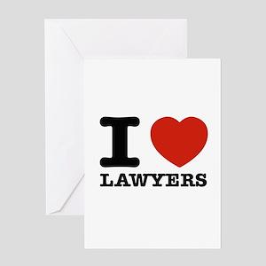 I heart Lawyers Greeting Card