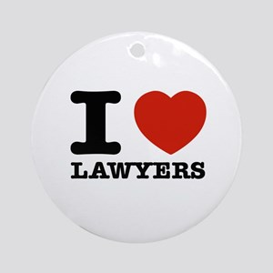 I heart Lawyers Ornament (Round)
