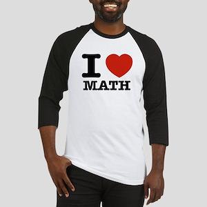 I heart Math Baseball Jersey