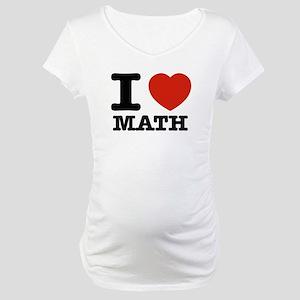 I heart Math Maternity T-Shirt