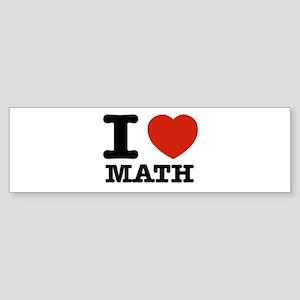 I heart Math Sticker (Bumper)
