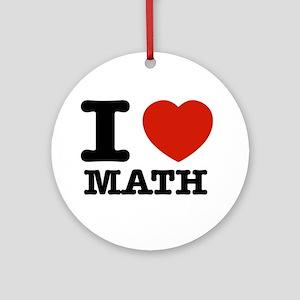 I heart Math Ornament (Round)