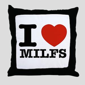I heart Milfs Throw Pillow