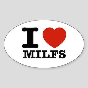 I heart Milfs Sticker (Oval)