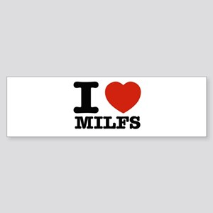I heart Milfs Sticker (Bumper)