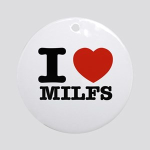 I heart Milfs Ornament (Round)