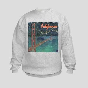 california golden gate pencil effect Kids Sweatshi