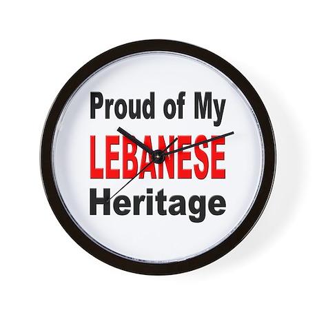 Proud Lebanese Heritage Wall Clock