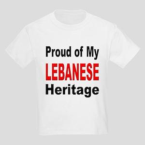 Proud Lebanese Heritage (Front) Kids T-Shirt