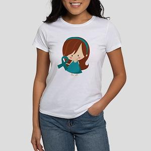 Teal Ribbon Girl Awareness Women's T-Shirt