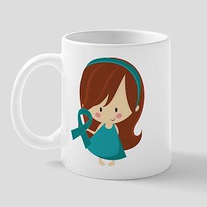 Teal Ribbon Girl Awareness Mug