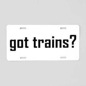 Got TRains Design Aluminum License Plate