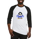 Blue CheerLeader Penguin Baseball Jersey
