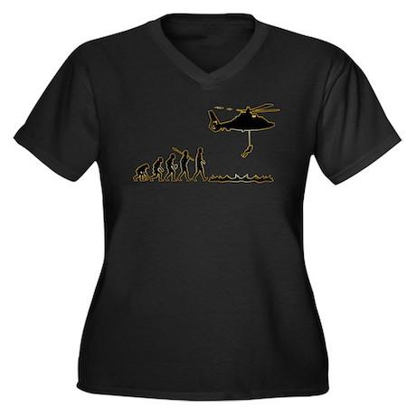Coast Guard Women's Plus Size V-Neck Dark T-Shirt