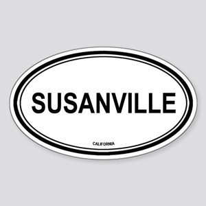 Susanville oval Oval Sticker